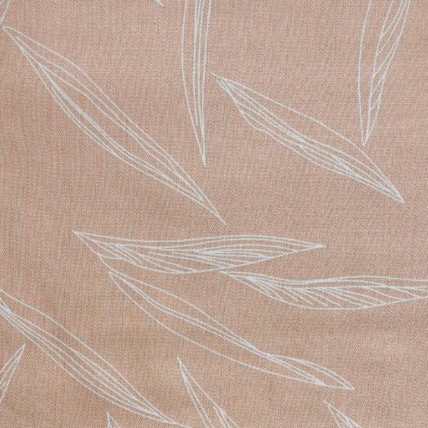 Mustard Base Grey Leaf fabric