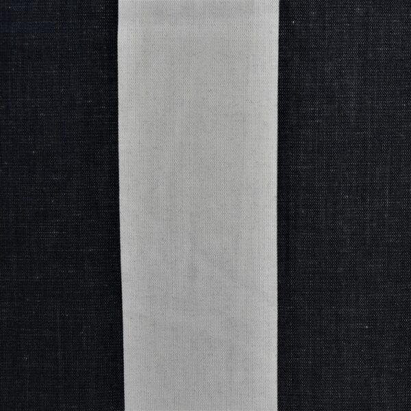 White Base Black Big Stripe Fabric