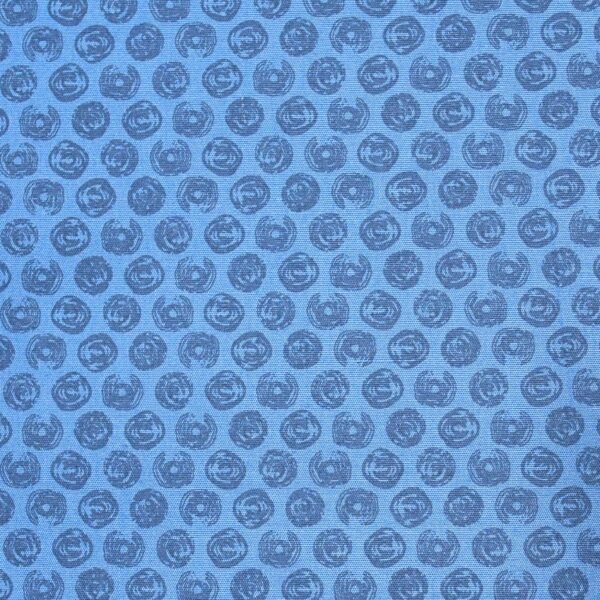 Cotton Blue Base Coin Print Fabric