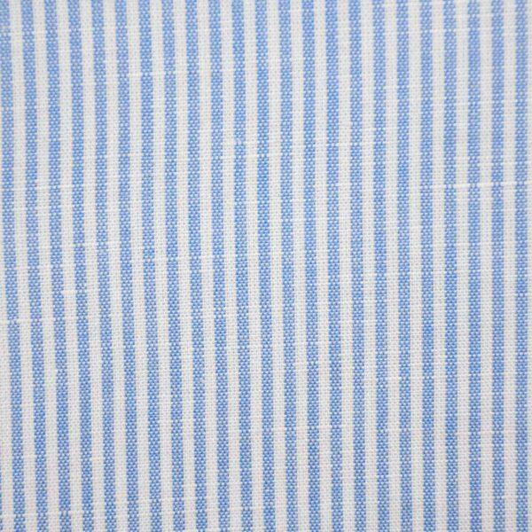 Blue Stripe Cotton Linen Fabric