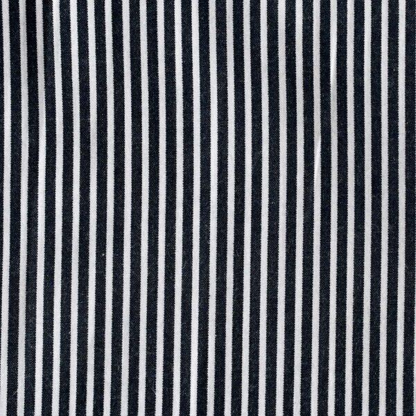 Cotton Black Stripe Yarn Dyed Fabric (FC-15