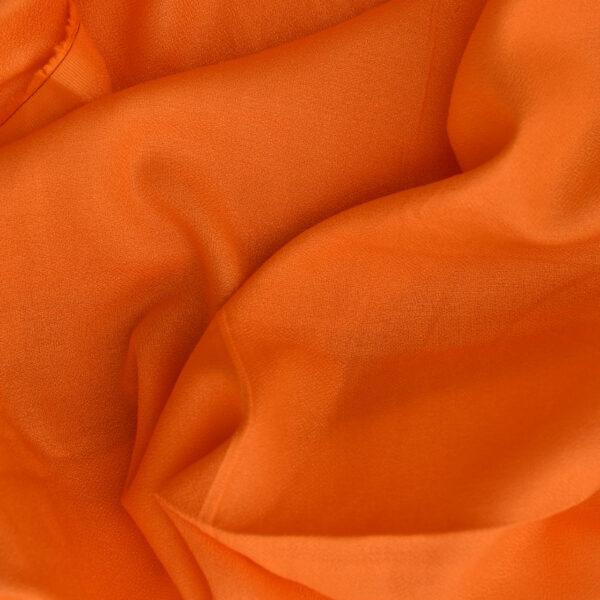 Viscose Orange Color Dyed Fabric