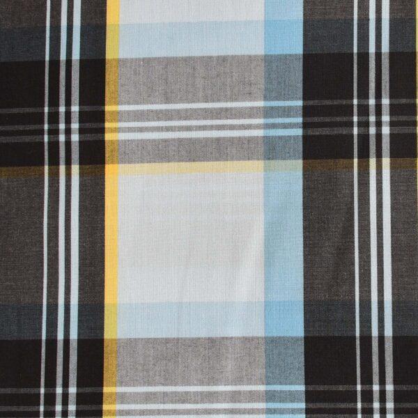 Cotton Blue & Black Big Checked Fabric