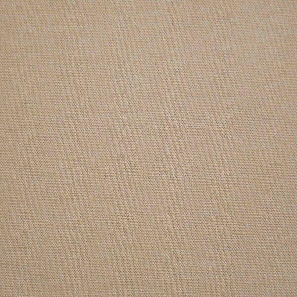 Cotton Dark Beige Solid Fabric