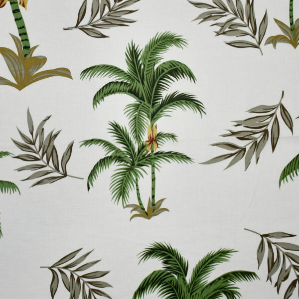 Cotton Lycra Coconut Tree Print Fabric