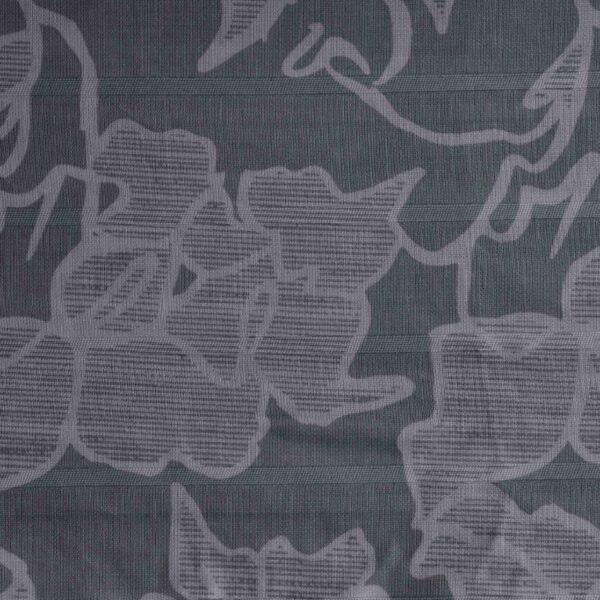 Grey Base Flower Print Fabric