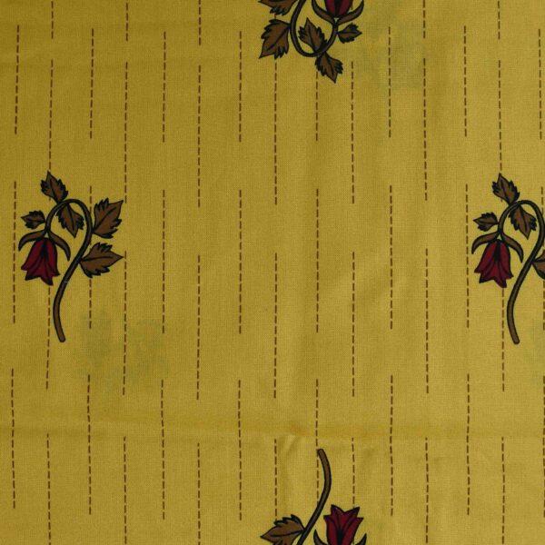 Viscose Yellow Base Flower Print Fabric
