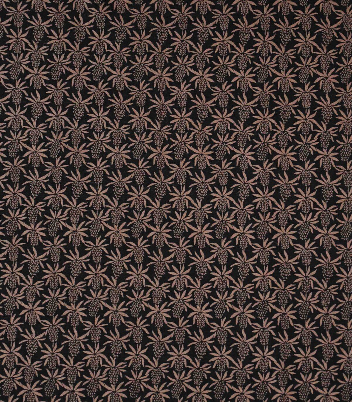 Cotton Black Base Corn Print Fabric