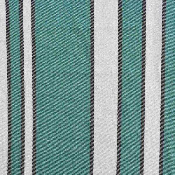 Rayon Green & White Stripe Fabric