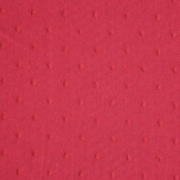 Red Dyed Clip Dot Dobby Fabric