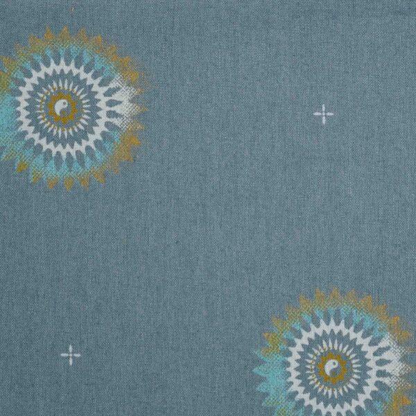 Cotton Rayon Blue Base Star Print Fabric