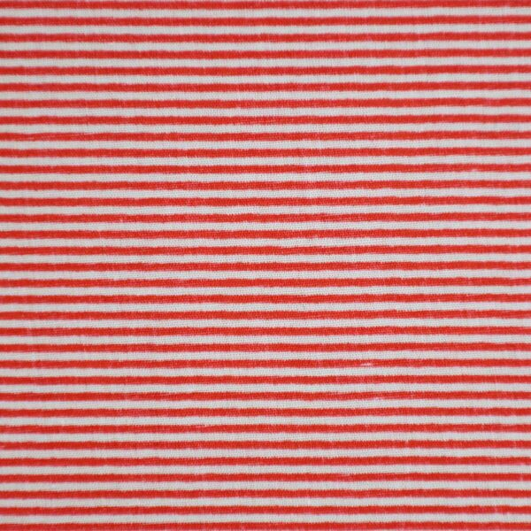 Red Color Weft Stripe Print Fabric