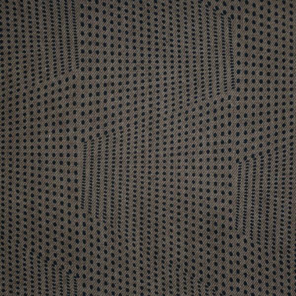 Cotton Brown Base Black Dot Print