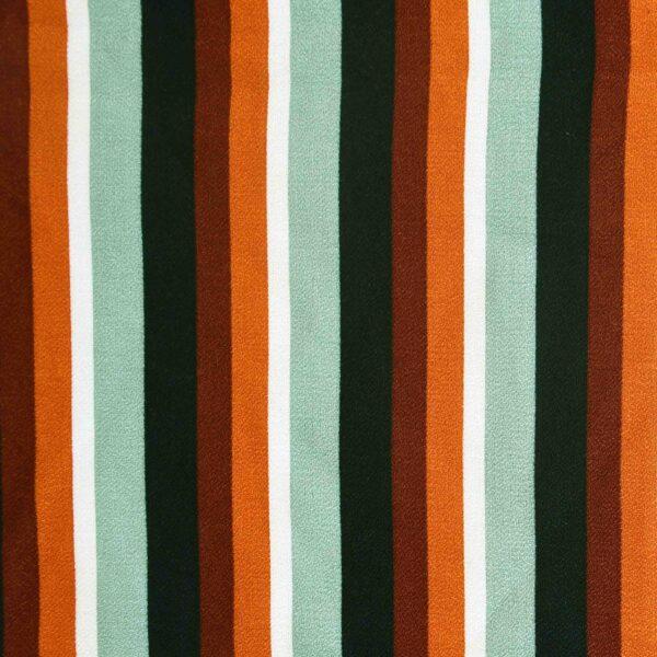Rayon Multi Color Stripe Print