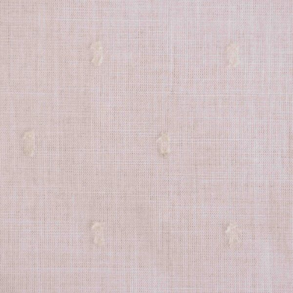 Pink Color Yarn Dyed Swiss Dot Fabric