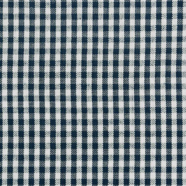 Cotton Navy & White Checked Fabric