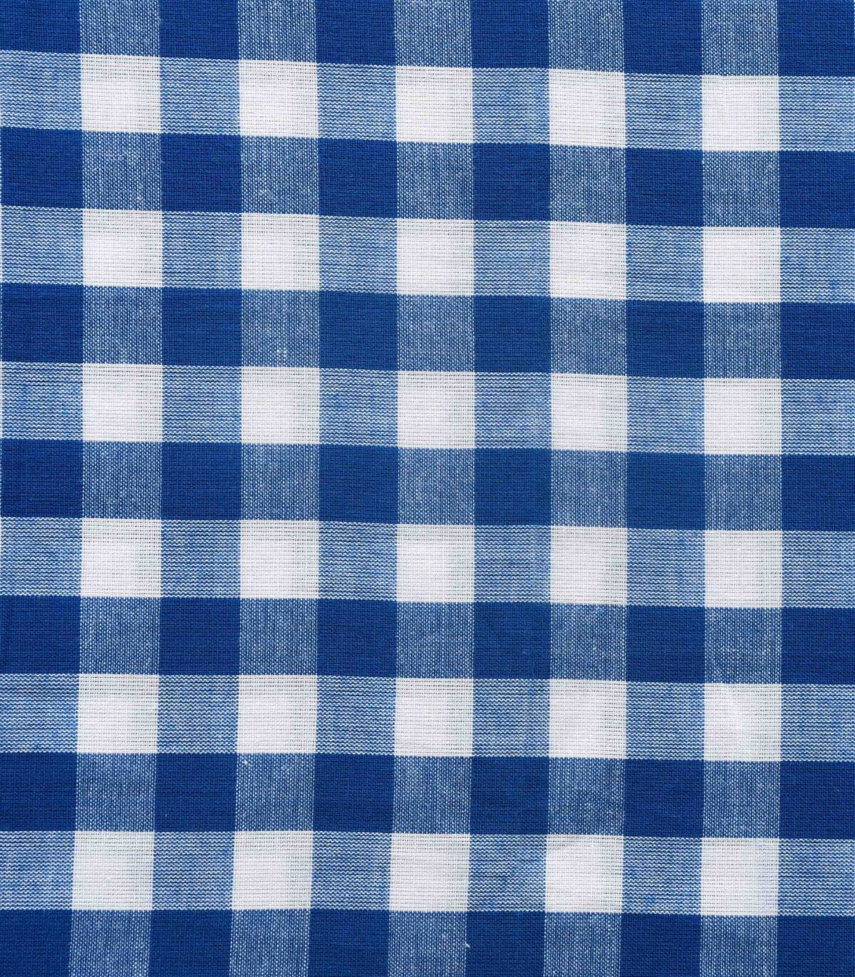 Blue & White Yarn Dyed Check Fabric