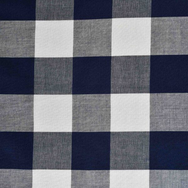 Beige & Navy Yarn Dyed Checked Fabric