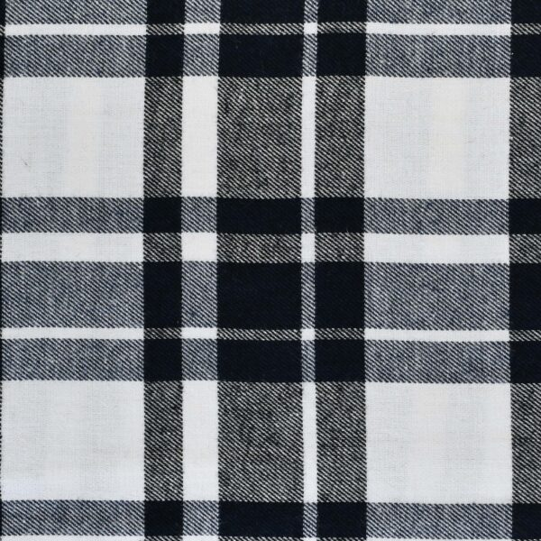 Yarn Dyed White & Black Color Checked Fabric