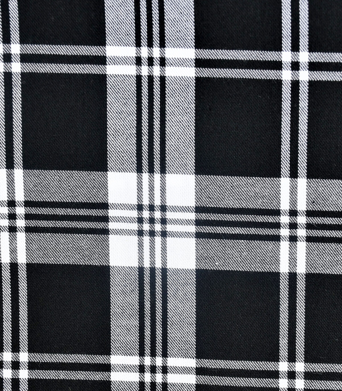 Black White Yarn Dyed Checked Fabric