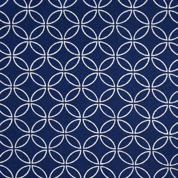 Cotton Navy Base Circle Print Fabric