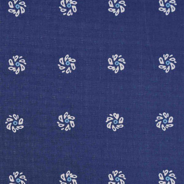 Blue White Flower Modal Fabric
