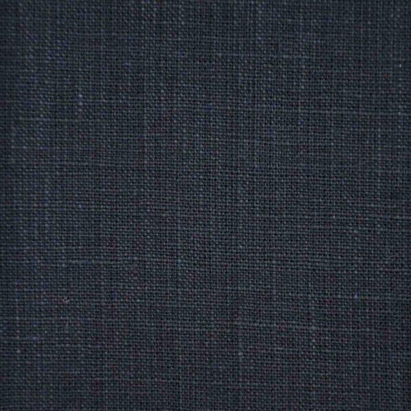 Navy Blue Dyed Linen Fabric