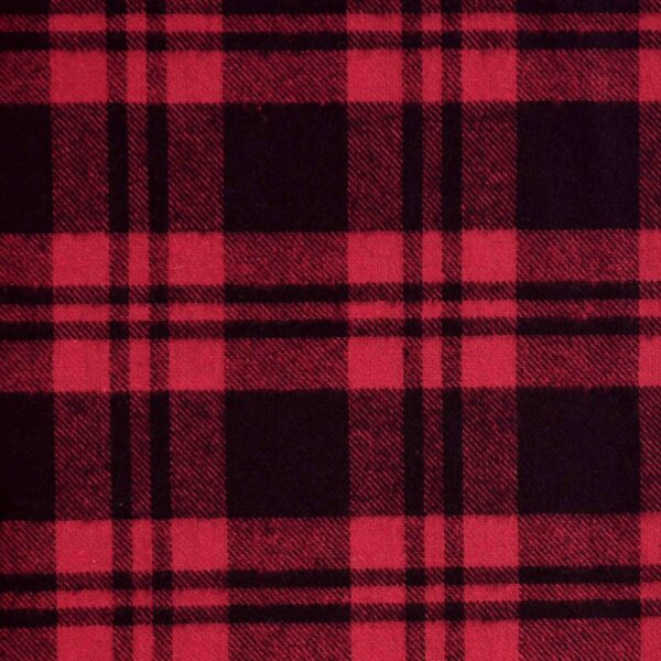 Cotton Black Red Yarn Dyed Checked Fabric
