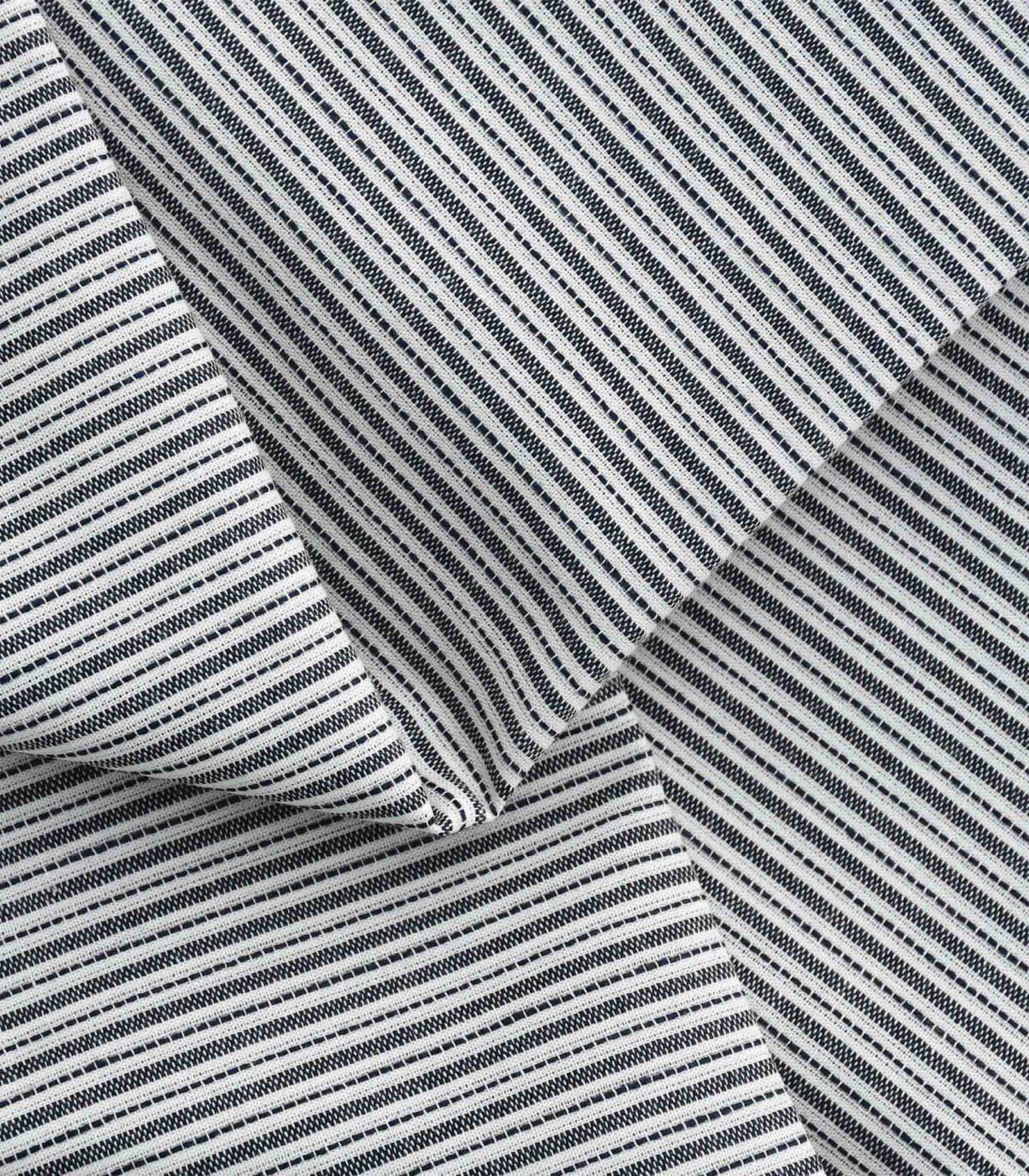 B&W Yarn Dyed Stripe Fabric