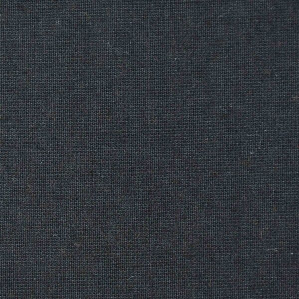 Cotton Flax Black Dyed Woven Fabric