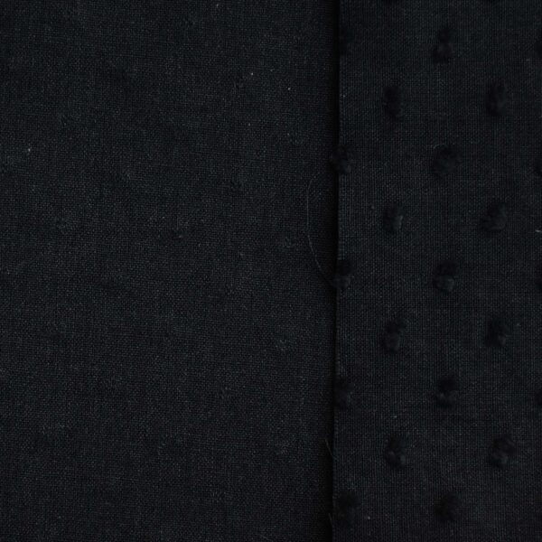 Cotton Black Color Dyed Butta Fabric