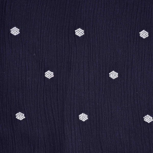 Viscose Poly Clip Dot Dobby Fabric