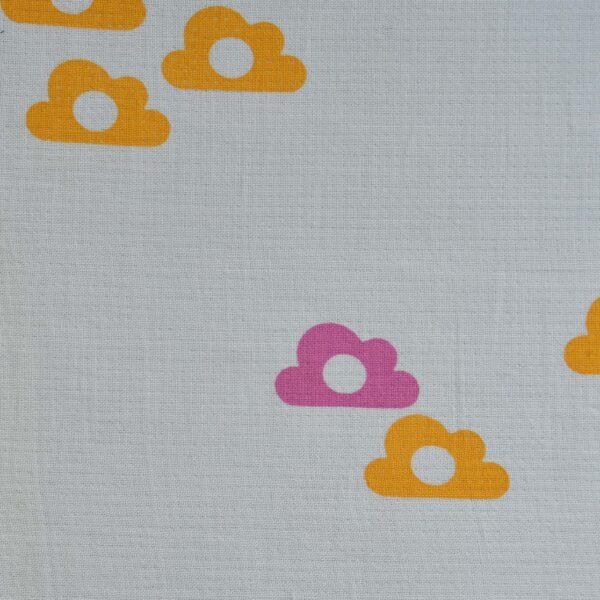 Cotton Flower Print Double Cloth Fabric