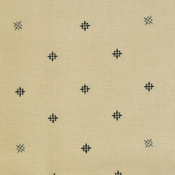 Cotton Yellow Color Base Blue Print Fabric