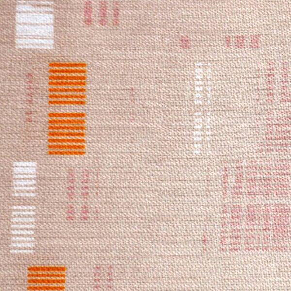 Sand Color Reactive Print Fabric