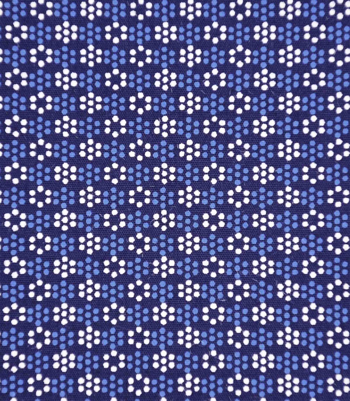 Navy Blue Base All Over Print Fabric