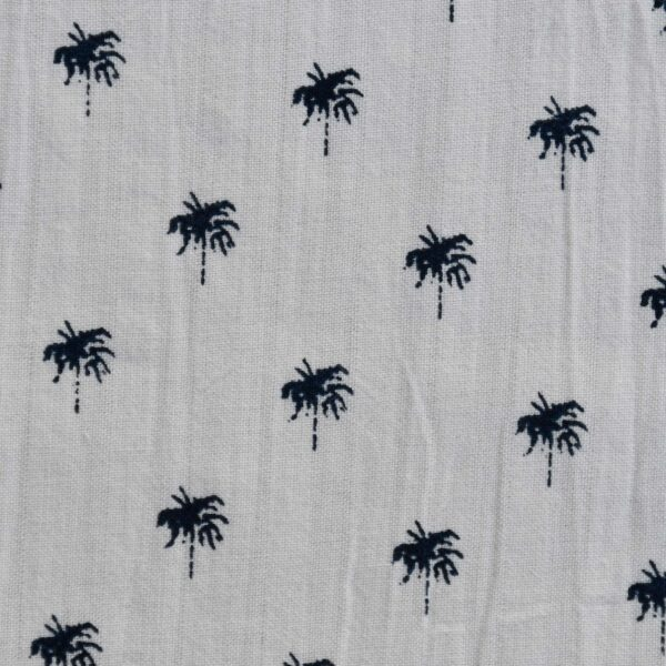 Cotton Tree Print Seer Sucker Fabric