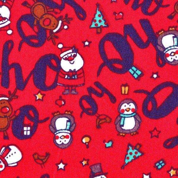 cotton red base animal print