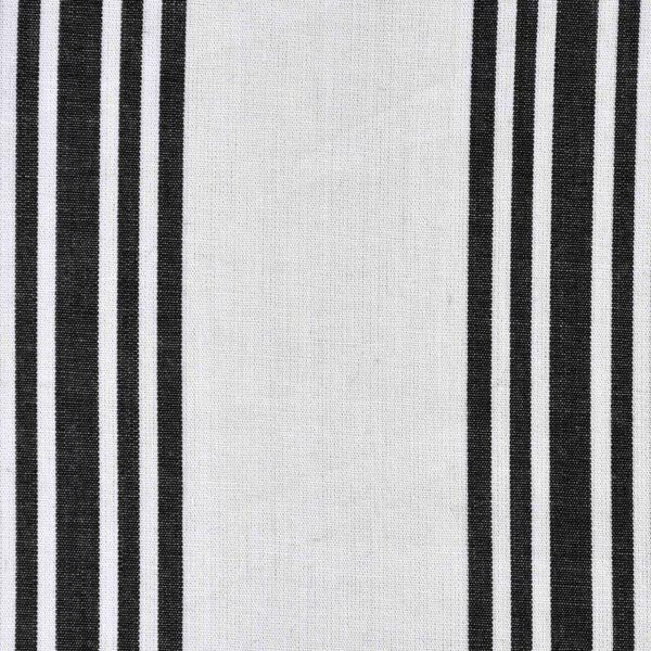 Cotton Yarn Dyed Black Stripe Fabric