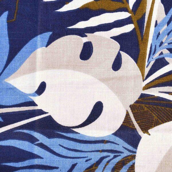 Cotton Multi Color Leaf Print Fabric
