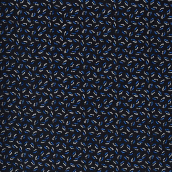 Cotton Black Base All Over Print Fabric