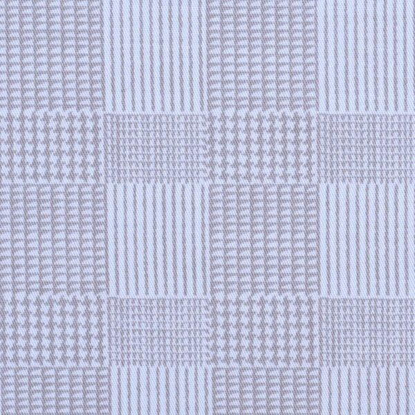 Cotton Geometrical Checked Print Fabric