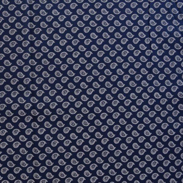 Cotton Modal Blue Base Print Fabric