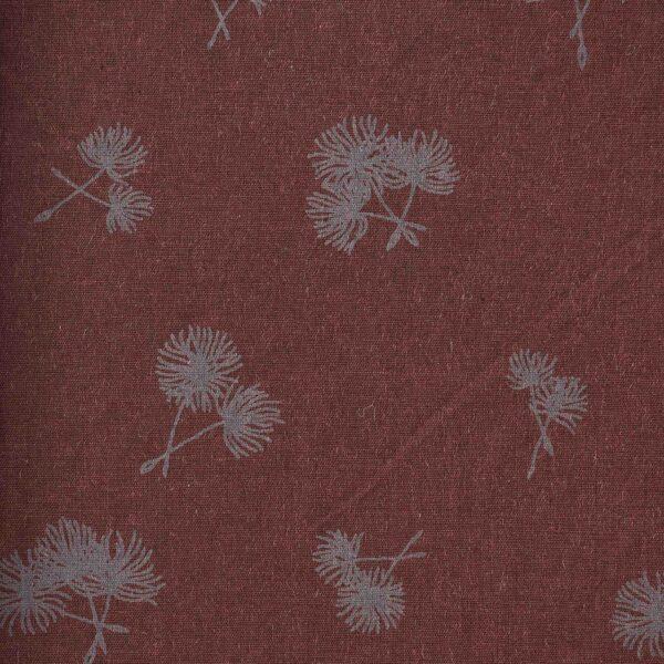 Cotton Modal Brown Color Leaf Print Fabric