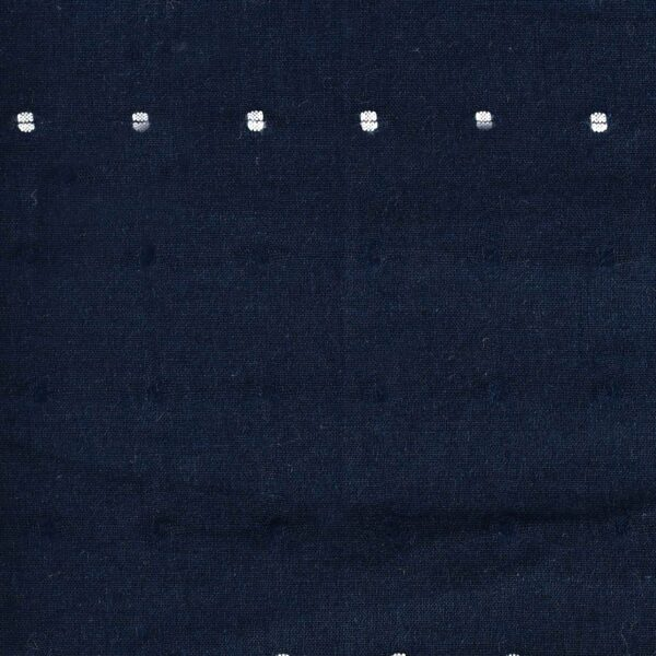 Cotton Navy Clip Dot Dyed Fabric