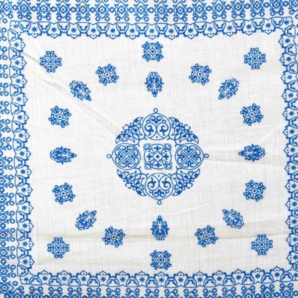 Cotton White Paisley Print Fabric