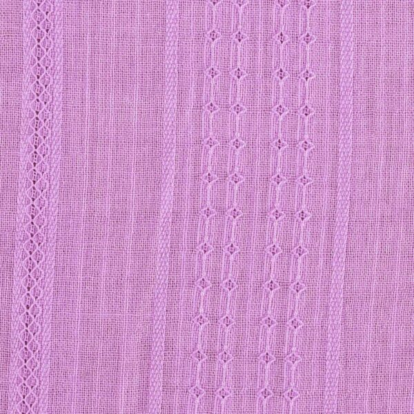Cotton Leno Dobby Pink Color Fabric