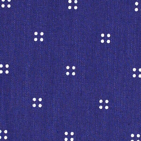 Cotton Blue Color Khadi Print Fabric