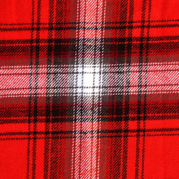 Cotton Red Checked Yarndyed Fabric