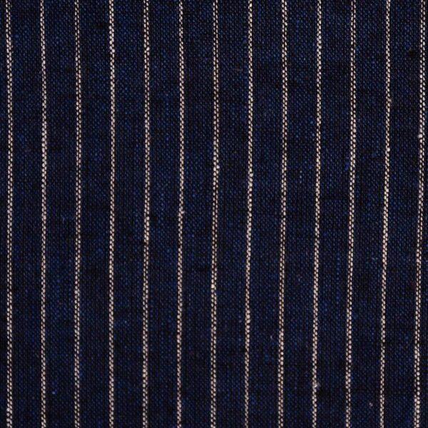 Cotton & Linen Navy Stripe Yarndyed Fabric